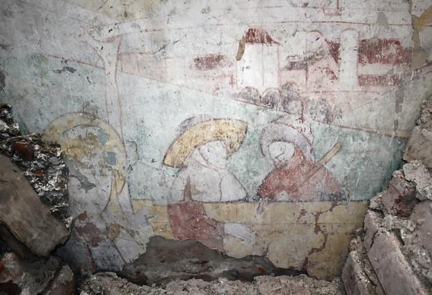 kirche st. korbinian unterhaching, wandmalereien