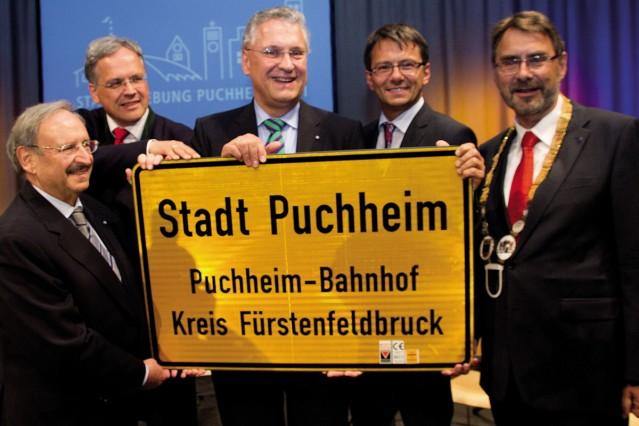 Puchheim: Fotos anlässlich des zehnjährigen Stadtjubiläums