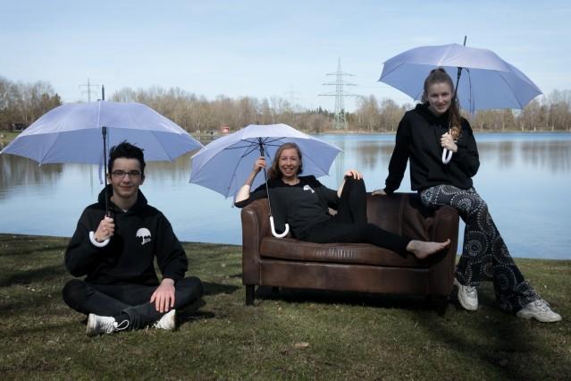 Regenschirmpoeten am Unterschleißheimer See