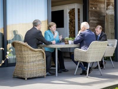 G-7-Gipfel in Cornwall: Merkel und Biden sprechen über Nord Stream 2