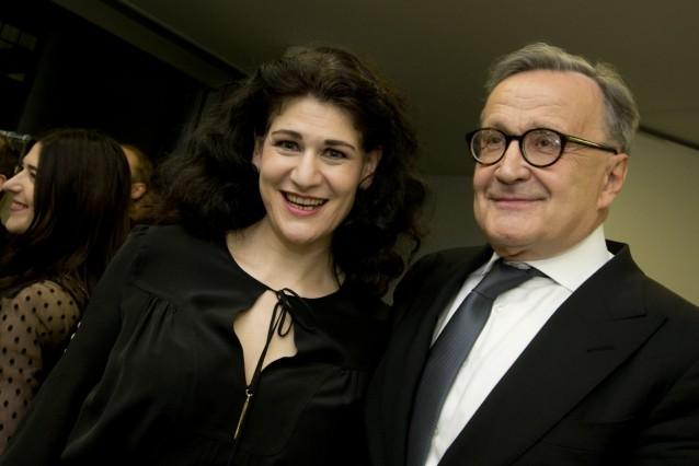 """Anja Herteros und Nikolaus Bachler bei Premiere der Oper """"Tannhäuser"""" in München, 2017"""