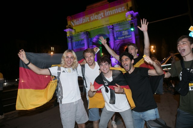 Nach dem Fußball EM Spiel: Deutschland Ungarn