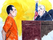Gerichtszeichnung, David Coleman Headley, Richter, AFP