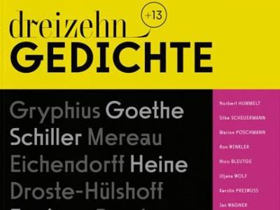 """Magazin """"dreizehn +13 Gedichte"""": Verse für alle"""