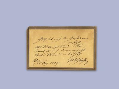 Goethe-Geburtstag vom 28. August 1829: Abs.: JW Goethe