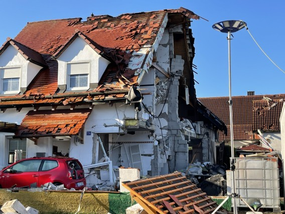 Explosion in Wohnhaus in Oberbayern