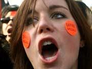 Studentin, Arbeitsmarkt-Proteste
