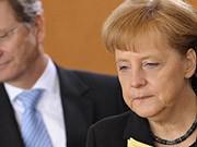 Merkel distanziert sich von Westerwelle Hartz IV ddp