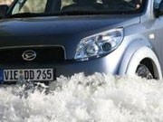 im wasser: daihatsu terios; press-inform