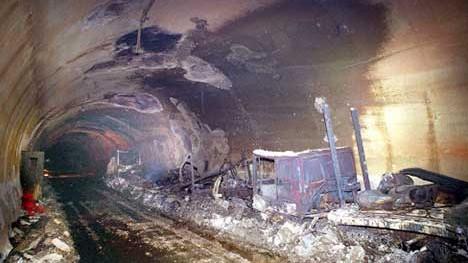 montblanc-tunnel nach brand; ap