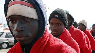 Flüchtling Flüchtlinge an Europas Küsten