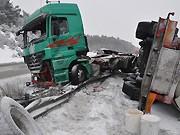 Unfall, Schneechaos, dpa