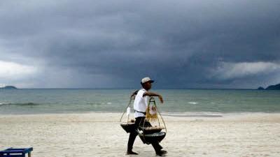 Der Strand und der Klimawandel