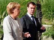 Merkel, Medwedjew, dpa