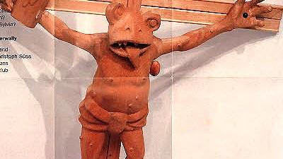 Martin Kippenberger Das Kreuz mit dem Kippenberger-Frosch