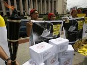 Amnesty International protestiert in Manila gegen die Zensur in China, Reuters