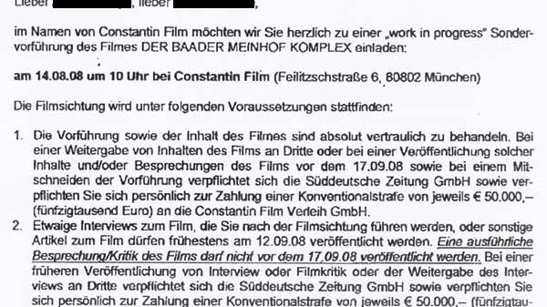 Constantin Film vs. Journalisten