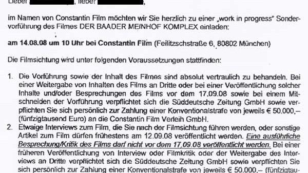 Constantin Film vs. Journalisten