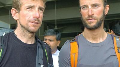 Bergsteiger zurück in Italien