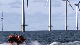 Windpark in der Nordsee, Foto: AP