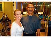 Barack Obama mit Bild-Reporterin Judith Bonesky
