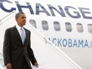 Barack Obama bei seiner Ankunft in Paris, Reuters