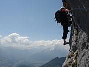 Klettersteig Untersberg : Hochthron klettersteig kräftemessen am untersberg reise