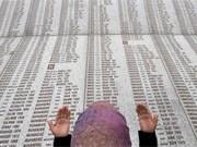 Beten für die Opfer von Srebrenica, AFP