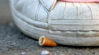 Ausgedrückte Zigarette; ddp