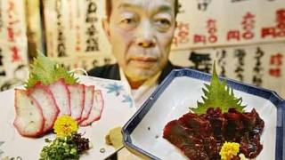 Walfleisch-Gerichte in japanischem Lokal