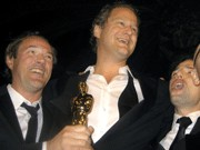 Sebastian Koch, Florian Henckel von Donnersmarck und Quirin Berg (von links)