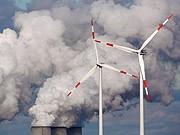 Kohlekraftwerk, Windräder
