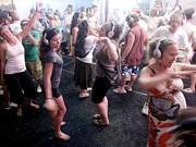 Kopfhörer Silent Disco, in Goa Indien auch draußen, AP