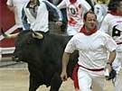 Stierjagd in Pamplona (Bild)