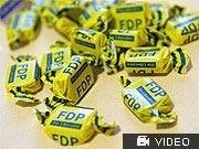 Bonbons mit FDP-Logo; ddp