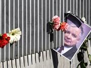 Trauer um Lech Kaczynski, die polnische Tragödie, AFP