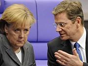Bundeskanzlerin Angela Merkel CDU Guido Westerwelle FDP Steuerpolitik ddp