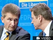 Andreas Pinkwart, Guido Westerwelle, dpa
