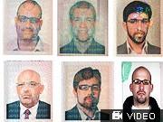 Fahndungsfotos Attentaeter Mossad Mabhuh Dubai, AFP