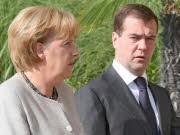 Merkel und Medwedjew, dpa