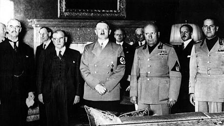 daladier chamberlain hitler 1938 münchen dpa