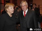 Angela Merkel und Hans Werner Kilz, dpa