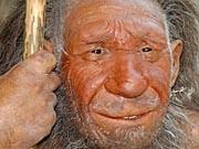 Neandertaler-Nachbildung, dpa