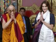 Dalai Lama, Carla Bruni, Reuters