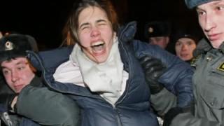 Moskau Demonstrationen in Russland