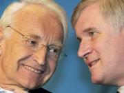 Edmund Stoiber, Horst Seehofer; AP