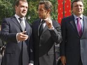 Dimitri Medwedjew (links) und Nicolas Sarkozy ; Reuters