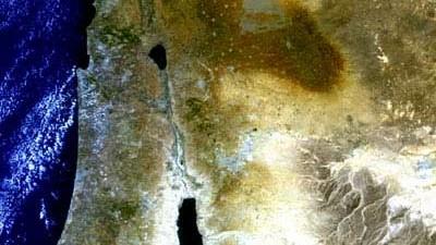 Verwerfung am Toten Meer