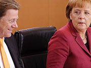 Angela Merkel Bundeskanzlerin Westerwelle ddp