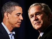 Obama, Bush, AFP, AP